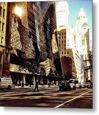 Reflections - New York City Metal Print by Vivienne Gucwa