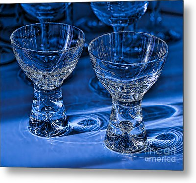 Reflections In Blue Metal Print