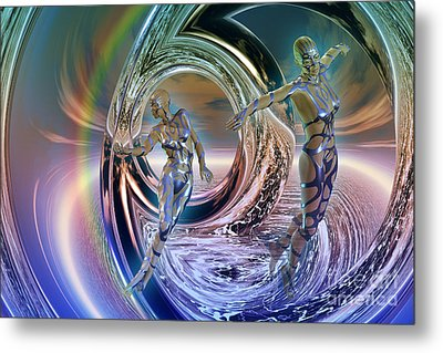 Reflections Of Freedom Metal Print by Shadowlea Is