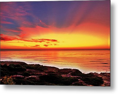 Reflections Of The Setting Sun Metal Print by Jeremy McKay