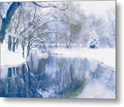 Reflections Of Winter Metal Print by Georgiana Romanovna