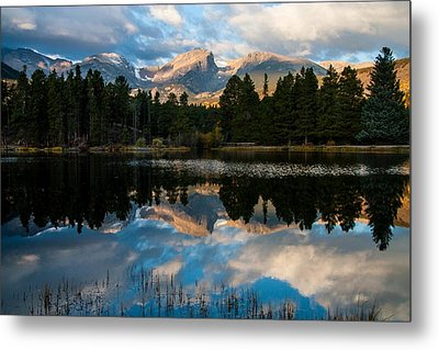Reflections On A Lake Metal Print by Anne Rodkin