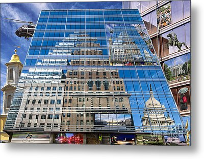 Reflections On Washington Metal Print