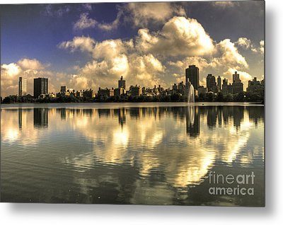 Reflections Over East Side  Metal Print by Rob Hawkins