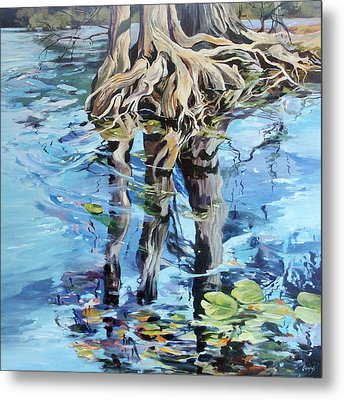Metal Print featuring the painting Reflections by Rae Andrews