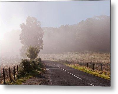 Refreshing Morning Fog In Trossachs. Scotland Metal Print by Jenny Rainbow