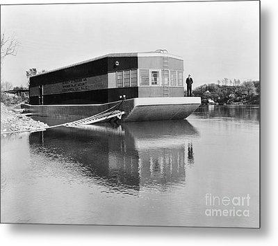 Refrigerated Barge, C1935 Metal Print by Granger