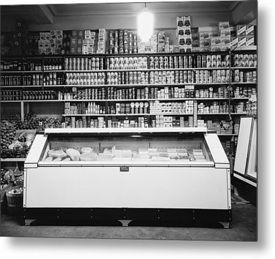 Refrigerator For Perishable Meat Metal Print by Everett