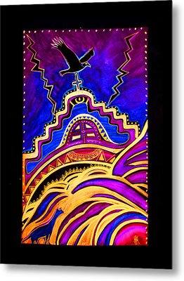 Metal Print featuring the painting Refuge At The End Of Time by Susanne Still
