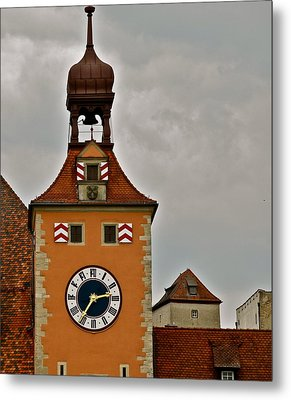 Metal Print featuring the photograph Regensburg Clock Tower by Kirsten Giving