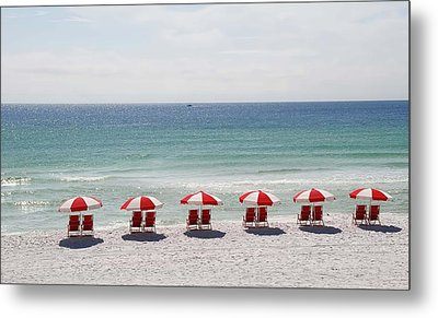 Relaxing At The Beach Metal Print