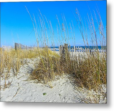 Metal Print featuring the photograph Relaxing By The Sea by Eve Spring