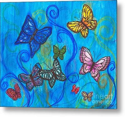 Releasing Butterflies II Metal Print by Denise Hoag