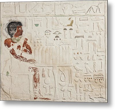 Relief Of Ka-aper With Offerings - Old Kingdom Metal Print by Egyptian fourth Dynasty
