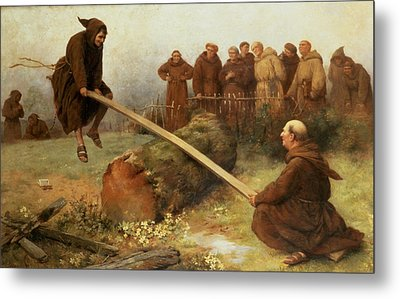 Religion Was Never Designed To Make Our Pleasure Less Metal Print by William Strutt
