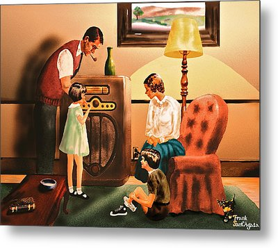 Remember When We Listened To The Radio Metal Print by Frank SantAgata