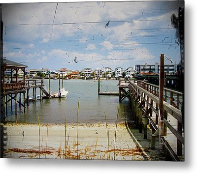 Remembering Wrightsville Beach Metal Print by Joan Meyland