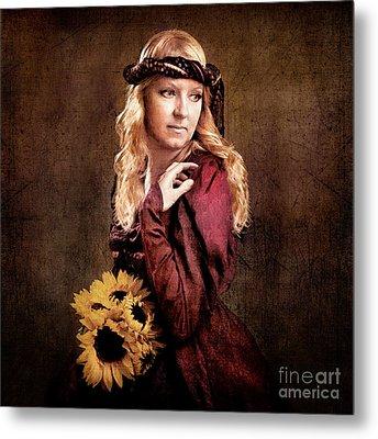 Renaissance Portrait Metal Print by Cindy Singleton