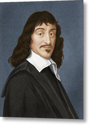 Rene Descartes, French Philosopher Metal Print by Maria Platt-evans
