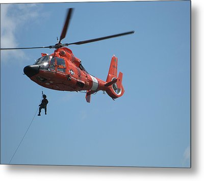 Rescue Helicopter 2 Metal Print by Kathy Long