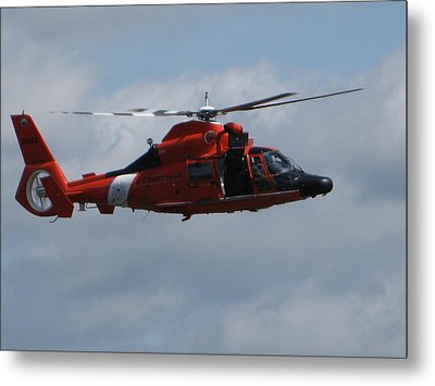 Rescue Helicopter Metal Print by Kathy Long