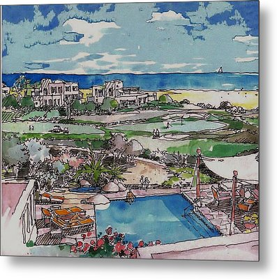 Resort Metal Print by Andrew Drozdowicz