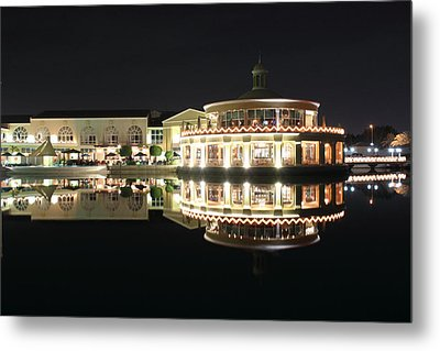 Restaurant And Bar Near Lake Metal Print by Radoslav Nedelchev