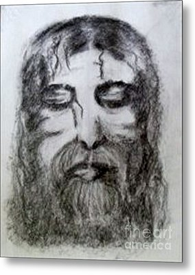 Metal Print featuring the drawing Resting A Weary Soul by Lori  Lovetere