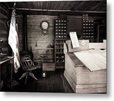 restored early Colorado Court house Metal Print