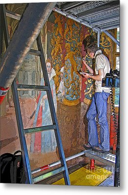 Restoring Art Metal Print by Ann Horn