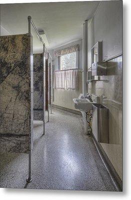 Restroom Stalls Circa 1927 Upscale Metal Print by Douglas Orton