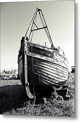 Retired Fishing Boat Metal Print by Sharon Lisa Clarke