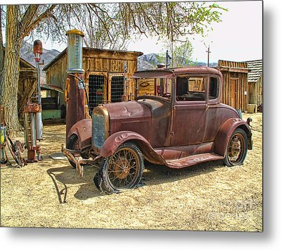 Metal Print featuring the photograph Retired Model T by Jason Abando
