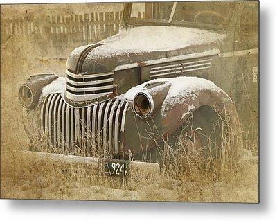 Retired Truck Circa 1924 Metal Print