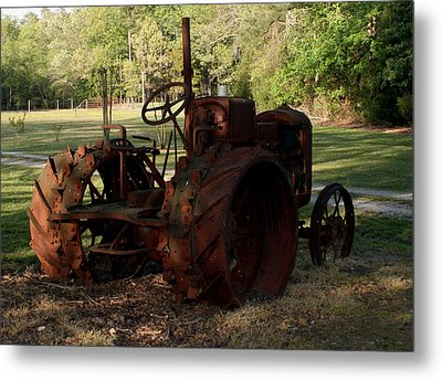 Metal Print featuring the photograph Retired2 by Karen Harrison