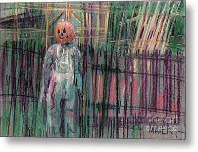 Return Of Pumpkinhead Man Metal Print by Donald Maier