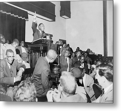 Rev. Martin Luther King, Jr., Speaking Metal Print