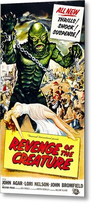 Revenge Of The Creature, As The Gill Metal Print by Everett