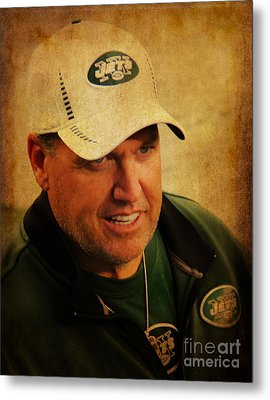 Rex Ryan - New York Jets Metal Print by Lee Dos Santos