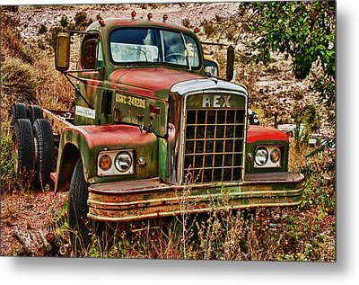 Metal Print featuring the photograph Rex The Truck by James Bethanis