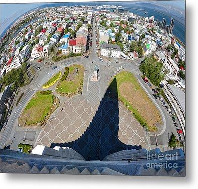 Reykjavik Iceland - Aerial View Metal Print by Gregory Dyer