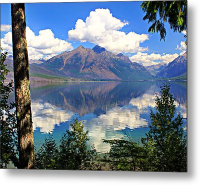 Rflection On Lake Mcdonald Metal Print by Marty Koch