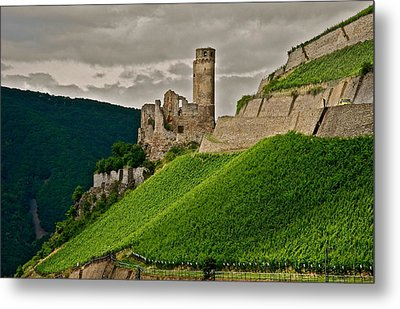 Metal Print featuring the photograph Rhine River Medieval Castle by Kirsten Giving