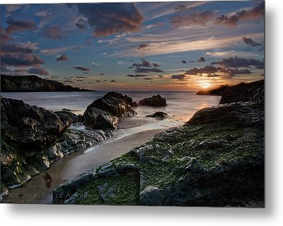 Metal Print featuring the photograph Rhosneigr Sunset  by Beverly Cash