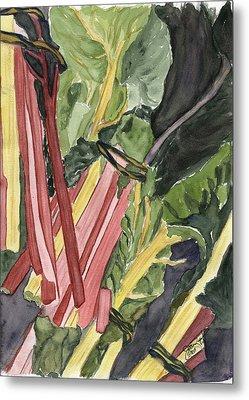 Rhubarb Study Metal Print