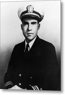 Richard Nixon. Navy Lieutenant Metal Print by Everett