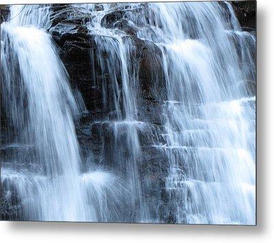 Ricketts Glen Waterfall 3942 Metal Print by David Dehner
