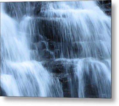 Ricketts Glen Waterfall 3943 Metal Print by David Dehner