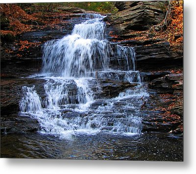 Ricketts Glen Waterfall 4075 Metal Print by David Dehner