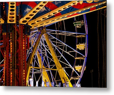 Metal Print featuring the photograph Rides by Michael Friedman